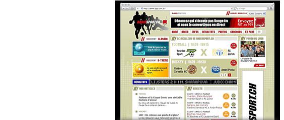 Website Radio Sport