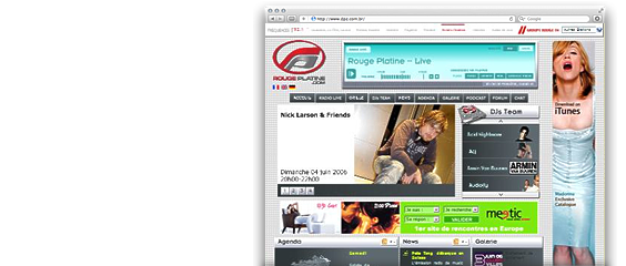 Website Rouge Platine