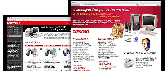 Ações promocionais Compaq Store